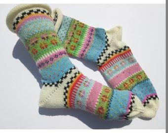 Colorful fair Isle socks Adelise Gr. 40 / 41
