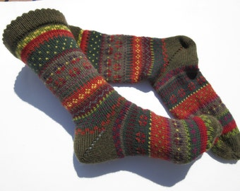 Fair Isle socks Aderes Gr. 38 / 39
