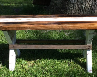 Reclaimed Wood Bench From the Surf