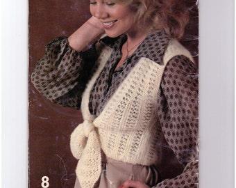 Beehive 431, Tie Vest, 1980, PDF Digital Download, Knitting Pattern