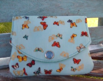 Butterfly Pocketbook, Card wallet, Cloth Wallets, Cardholder, ID Holder, Wallet, 3 pouch wallet, 3 pocket wallet, Coin purse, ID wallet