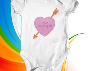 Love Investment baby bodysuit | baby girl clothes | baby shower gift | funny baby bodysuit | newborn baby clothes | tattoo baby clothes