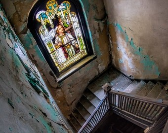 "Abandoned Church Photograph ""Stairway to Eternity"""