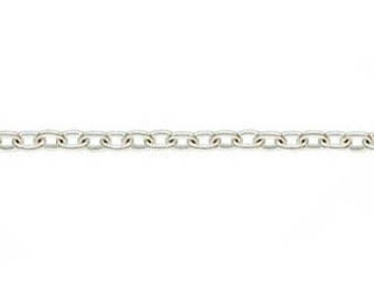 1.1x1.6mm Sterling Silver Oval Cable Chain
