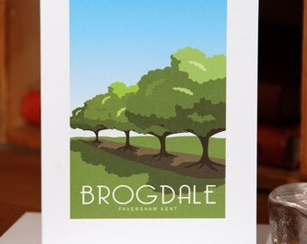 Greetings Card of Summer at Brogdale, Faversham, Kent