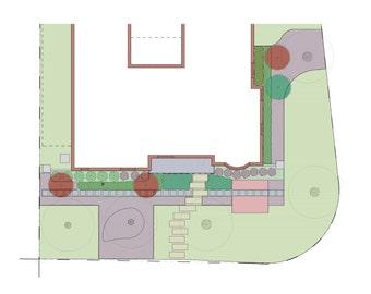 Modern Southern Front Yard Landscape Design