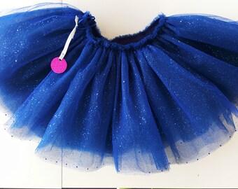 Electric blue Tutu with glitter.
