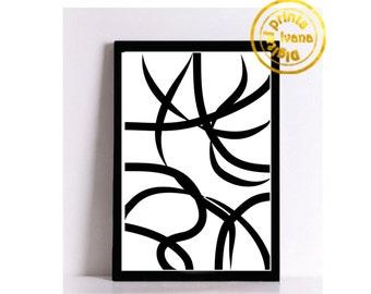 Printable wall art Digital Prints modern geometric print black and white wall art Home decor printable art, printable prints