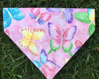 Butterfly Themed Over the Collar Bandana
