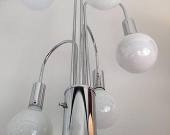 Vintage Chrome Globe Hangdown Table Lamp