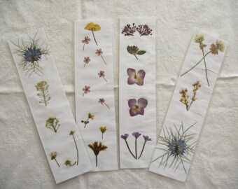 Pressed Flower Bookmark- real pressed flowers