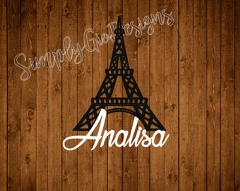 Eiffel Tower Decal, Paris Decal, Yeti Decal, Tumbler Decal, Car Decal