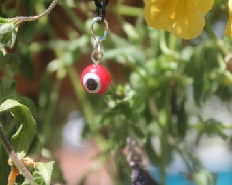 Red evil eye protector keychain