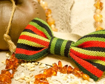 Handmade wool bow-tie