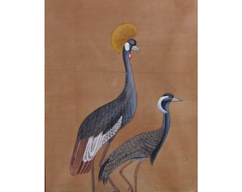 Indian handmade miniture painting of Birds