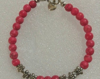 Rose Turquoise Beaded Bracelet