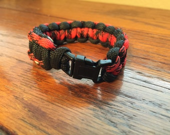 Paracord Bracelet - Black & Red