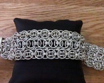Sterling Silver Helm Weave Cuff Bracelet