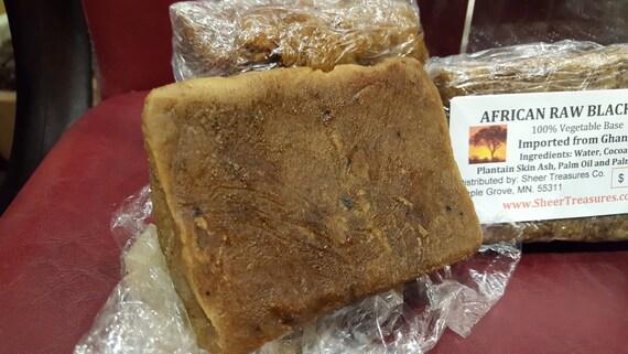 African Raw Black Soap  1/2 lb.