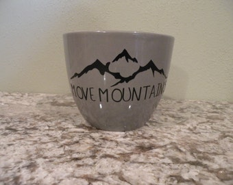 Move Mountains coffee cup