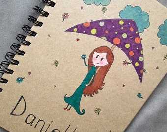 Personalised, Hand Drawn Journals