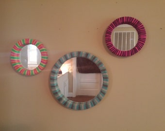 Yarn Wrapped Mirrors