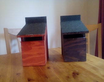 Open fronted nesting boxes