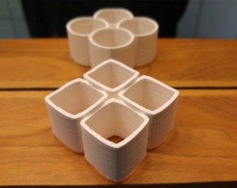 Ambiguous Cylinder Optical Illusion 3D Printed Model