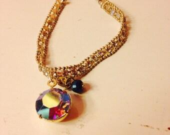 Rhinestone Charm Bracelet