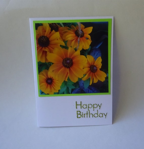 Birthday Card with Yellow Flowers - #1994
