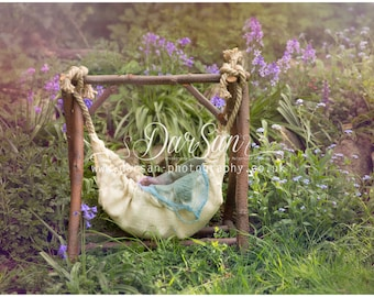 Digital prop / background - Bluebells & swing