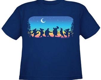Grateful Dead Moondance Youth T-Shirt/ Dancing Bears and Terrapin Turtles/ Kids shirt