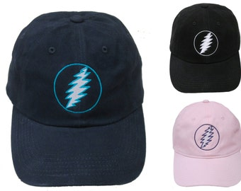 Grateful Dead hat- 13 point Lightning Bolt embroidered baseball cap / hat /Dead and Company /