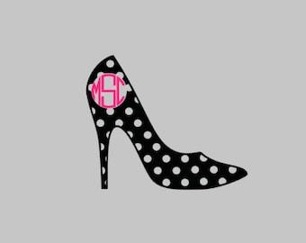 high heel shoe monogram, shoe, shoe monogram, high heels, high heel monogram