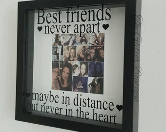 Best Friends Long Distance Quoted Frame Gift - friendship - family - personalised - friend - Bestfriend - gift -