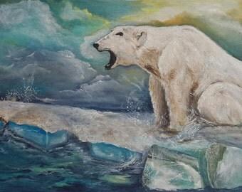 Polar bear.scream.