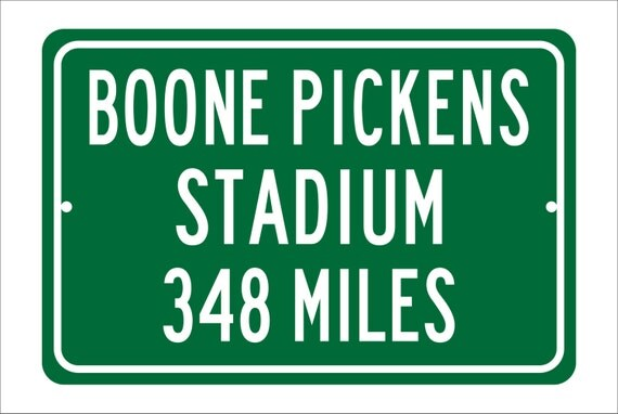 Custom College Highway Distance Sign to Boone Pickens Stadium | Home of the Oklahoma State University Cowboys |  Cowboys Football |