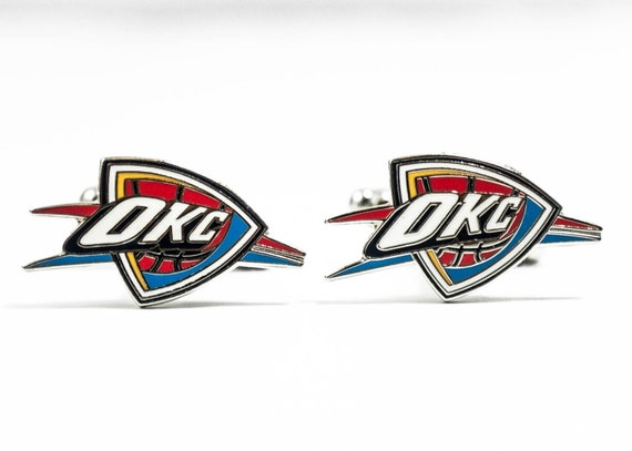 Oklahoma City Thunder Cuff Links -- FREE SHIPPING with USPS First Class Domestic Mail