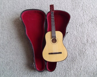 Modern Minature Guitar and Case