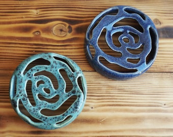 "Ceramic Soap Dishes ""Rose"""