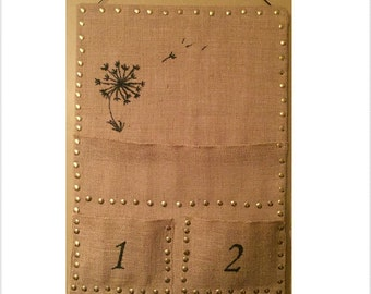 Mail sorter, bulletin board with pockets