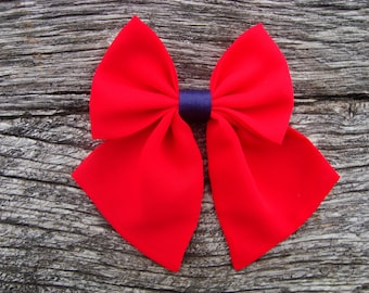 Bow tie brooch pin red