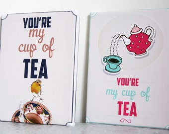 Personalised gift for nan kitchen print girlfriend tea quote picture wife keepsake teapot