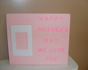 pink mothers day plaque