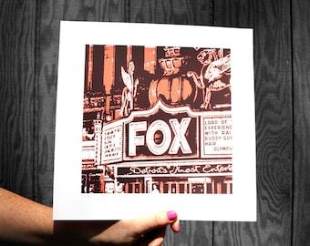 Fox Theater Screen Print
