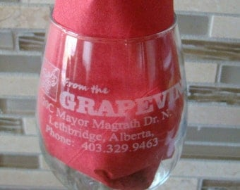 Custom Engraved Etched Printed Personalized White Wine Glass