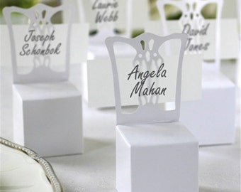 new 100pcslot chair place card holder and favor box best for candy boxes wedding