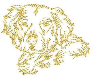 Golden Retriever Dogs  ( 10 Machine Embroidery Designs from ATW )
