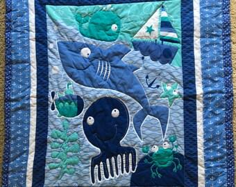 Ocean friends handmade quilt