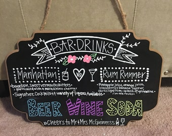 Homemade chalkboard signs
